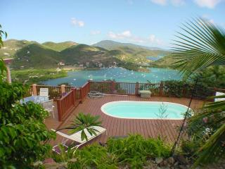 Mimosa Villa- 4bd/3bth AC,Pool,Ocean View,Beach,Private,Internet, Coral Bay