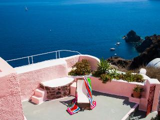 PINK & BLUE Cave Houses HOT TUB Panor Caldera View, Oia