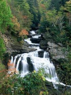 One of the nearby waterfalls in Cashiers