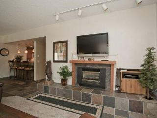 Flat Screen TV and Gas Burning Fireplace