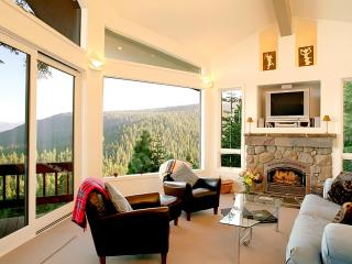 Living Room with Lake and Ward Canyon View