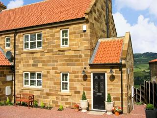 COWSLIP COTTAGE, pet friendly, luxury holiday cottage, with a garden in Sleights, Ref 7314