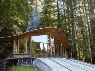 Parabolic All-Glass House in the Redwoods, Mendocino