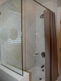 Master Bath shower/tub - Front house