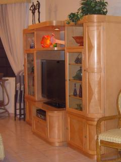 Entertainment Center with Large Flat Screen TV