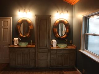 the master suite double vanity