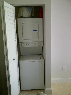 laundry facilities in the unit