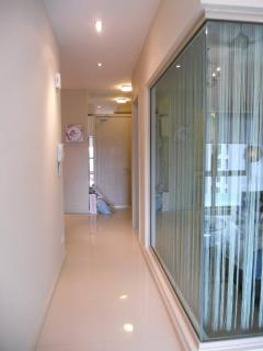 walkway from kitchen to living hall.