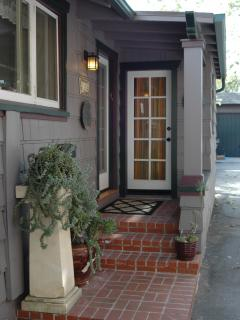Private Front Door and Laundry Room