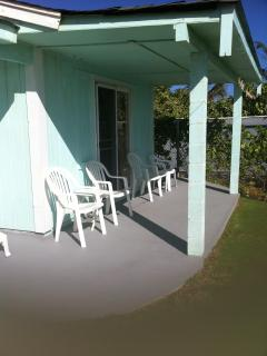 Your covered porch with clothes for handing wet things out to dry naturally, always windy.
