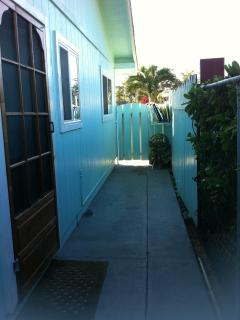 Your private entrance, gated and fenced