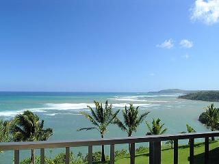 Sealodge H9: King bed, oceanfront views, only top floor condo in the building, Princeville