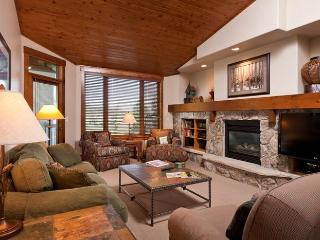 Trails at Storm Meadows - Living Room with gas log fireplace & 47' flat panel TV