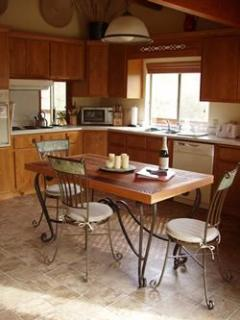Closer view of kitchen area