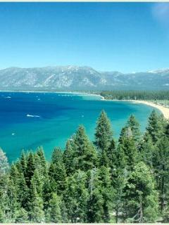 View of King's Beach from the Fire Lookout hike, maybe 10 minutes to the hike from my house.