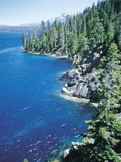 Taken from the Rubicon Trail, a favorite hike on the West shore of Lake Tahoe, 6 miles to Emerald Ba
