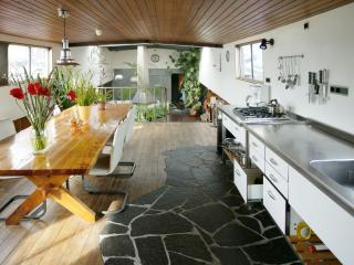 Grand Houseboat Apartment with fire place, Ámsterdam