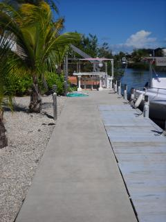 80 FT DOCK WITH FISH CLEANING STATION