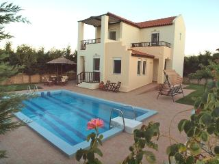 Greek Island Villa with a Private Pool - Villa Chrysanthe, Maleme