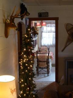 Decked out for an old fashioned Mountain Cabin Holiday