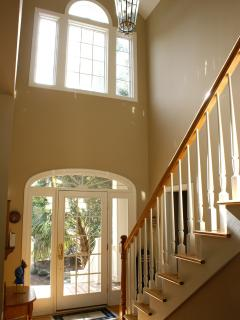 Front Door and 2 story Foyer