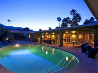 Mel House boasts a spacious ranch design with mountain views, saltwater pool & spa and media room, Palm Springs