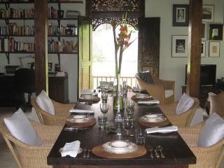 MAIN HOUSE DINING  and  LIBRARY