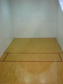 Raquetball right at Sports Village, 100 yards from the condo