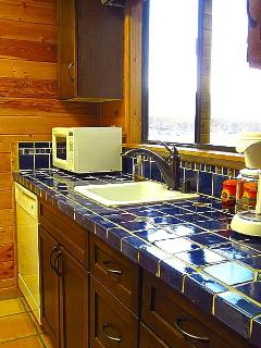 Kitchen with Microwave, Coffee Maker, Toaster