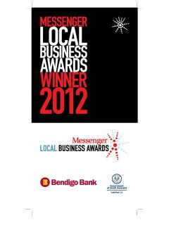 2012 Local Business Award-category hotels, motels