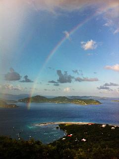 Rainbow from Moonswept Pool Deck