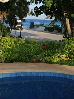 View of Caribbean from Casa Caracol pool