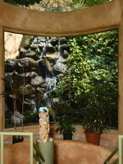 Waterfall view from the inside