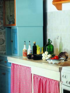 Kitchen detail with the stone dish washer