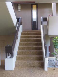 Only 7 stairs to get up to the 2nd Floor  and it is a straight shot - easy access in and out