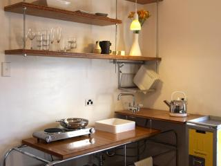 hello yello - Custom designed galley kitchen with airline trolley pantry (weve since installed a proper stove)