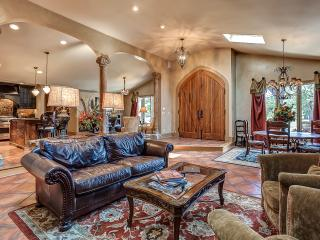 Open for entertaining w/multiple seating areas