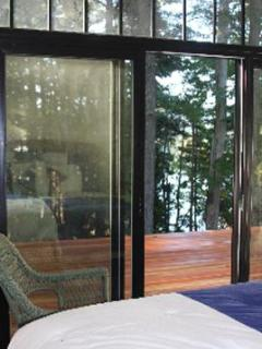 Sliding door to deck from Queen Bedroom