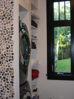 Washer/Dryer Linen Closet in Bathroom
