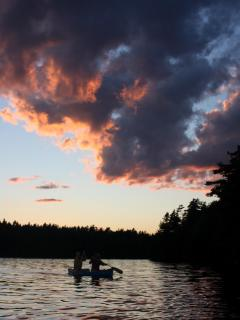 Canoe as the Sun Sets or Relax in the Adirondacks