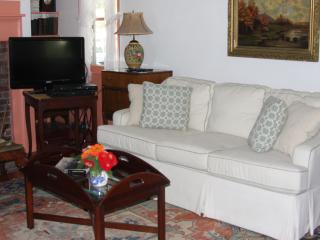Living Room with Premium Channel Cable TV