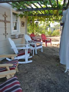 Sit back and enjoy a glass of Sonoma wine in our adirondack chairs.
