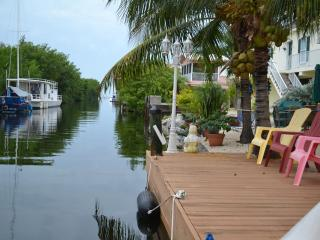 Great views of our canal and bay from the dock.