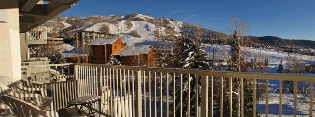 Panoramic Views of the ski slopes & the base area from the wrap around balcony.