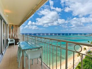Waikiki Shore #1302 - Luxurious Beachfront 2 Bedroom Condo - Sleeps 4 - Perfect for 2 Couples- - Waikiki vacation rentals