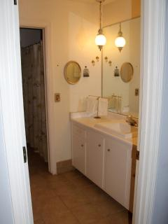 Large bathroom also connects with family room