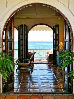 Entry to your villa