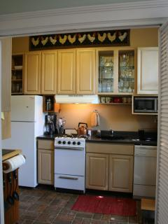 Kitchen - small but fully equipped.