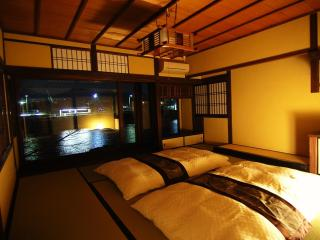 Amazing river view house with the cypress bath, Kyoto