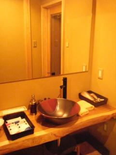 Wash basin , hair dryer is equiped , amenities ,towels are provided